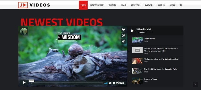 social and interactive video sharing WordPress theme