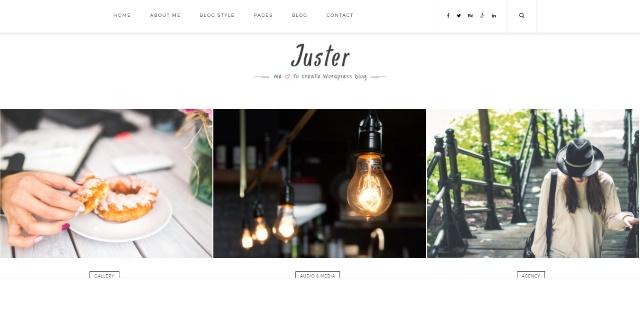 Clean one page WordPress theme