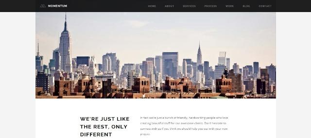 Minimal one page WordPress theme