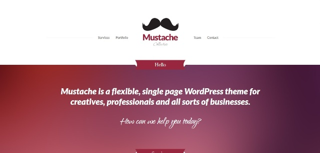 Quirky one page WordPress theme