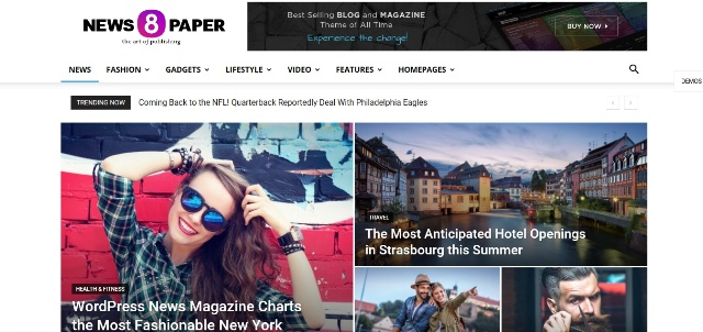 best video WordPress theme for news websites