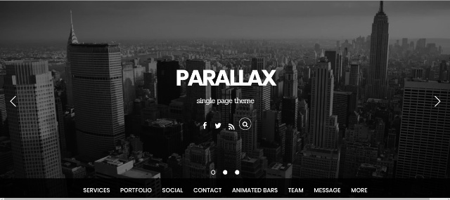 One page WordPress theme for parallax effect