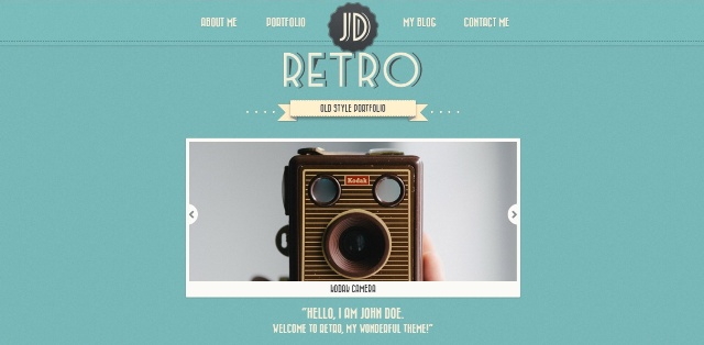 Vintage one page WordPress theme