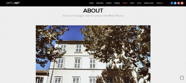 One page WordPress theme with loading screen
