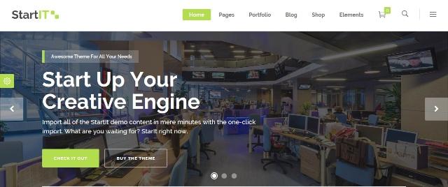 StartIT cutting edge and vibrant WordPress theme