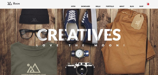 Visually sophisticated one page WordPress theme
