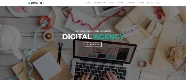 Upshot lightweight WordPress theme