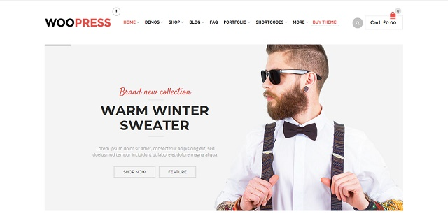 The coming soon WordPress theme with WooCommerce support