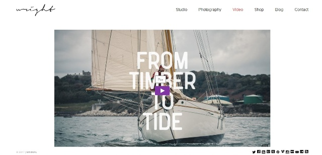 WordPress video theme with a lightbox portfolio