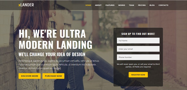 coming soon WordPress theme for landing pages