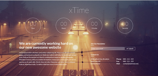 versatile coming soon WordPress theme