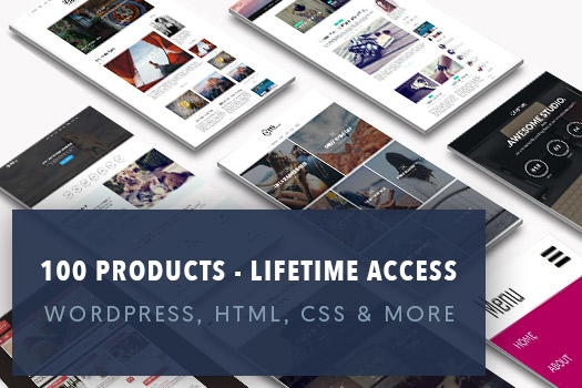 100 Products Bundle - WordPress, HTML5, Bootstrap, CSS3