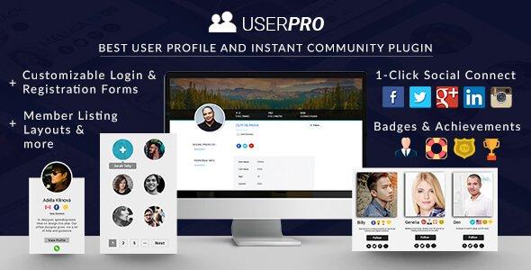UserPro WordPress Community Membership Plugin