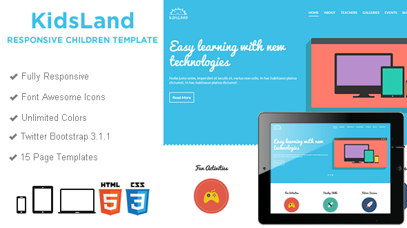 Kids Land Educational Template