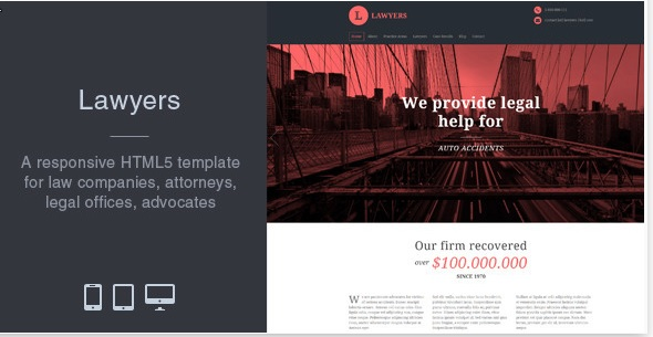 Lawyers Html5 Template