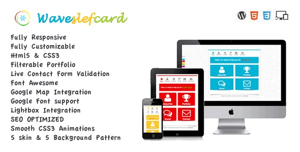 WaveSelf Card Vcard Portfolio Template