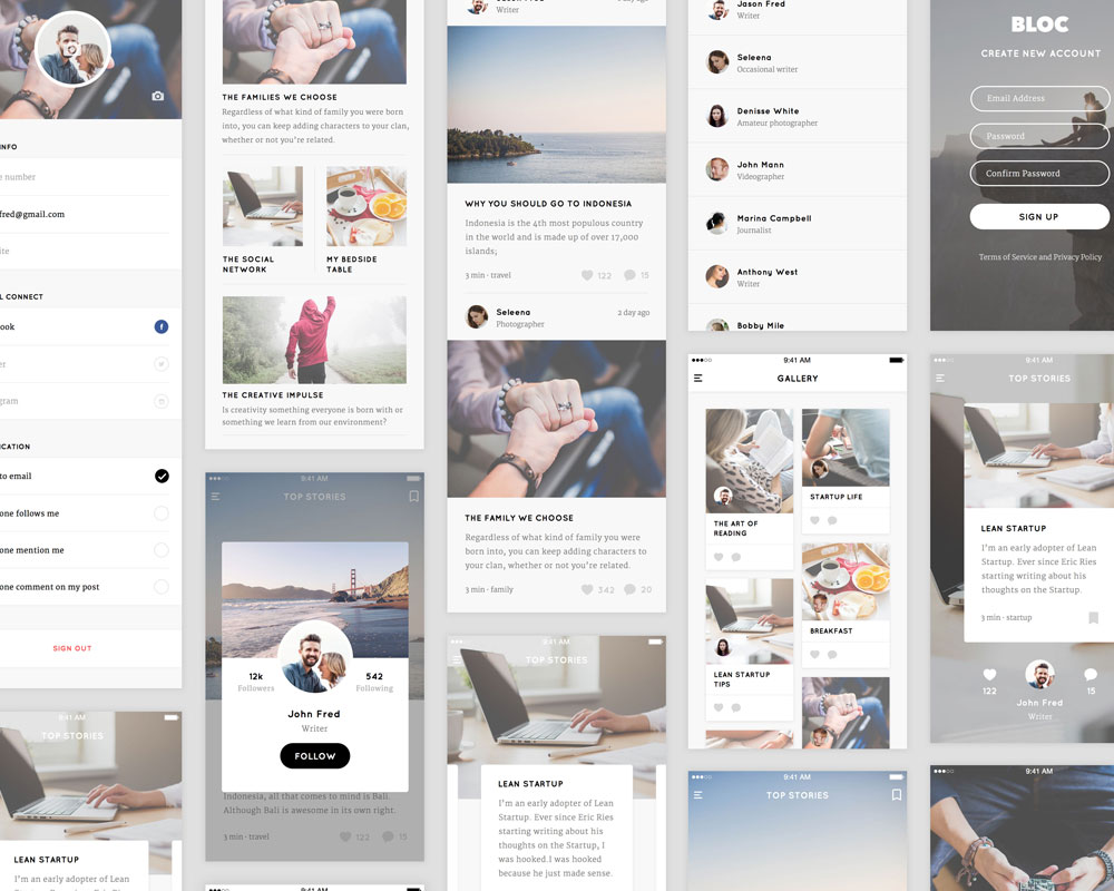 Blog Free UI Kit