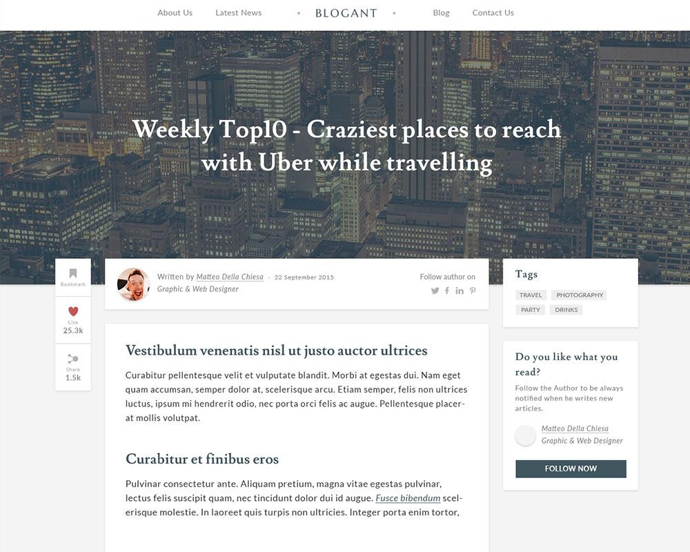 Blogant Free UI Kit