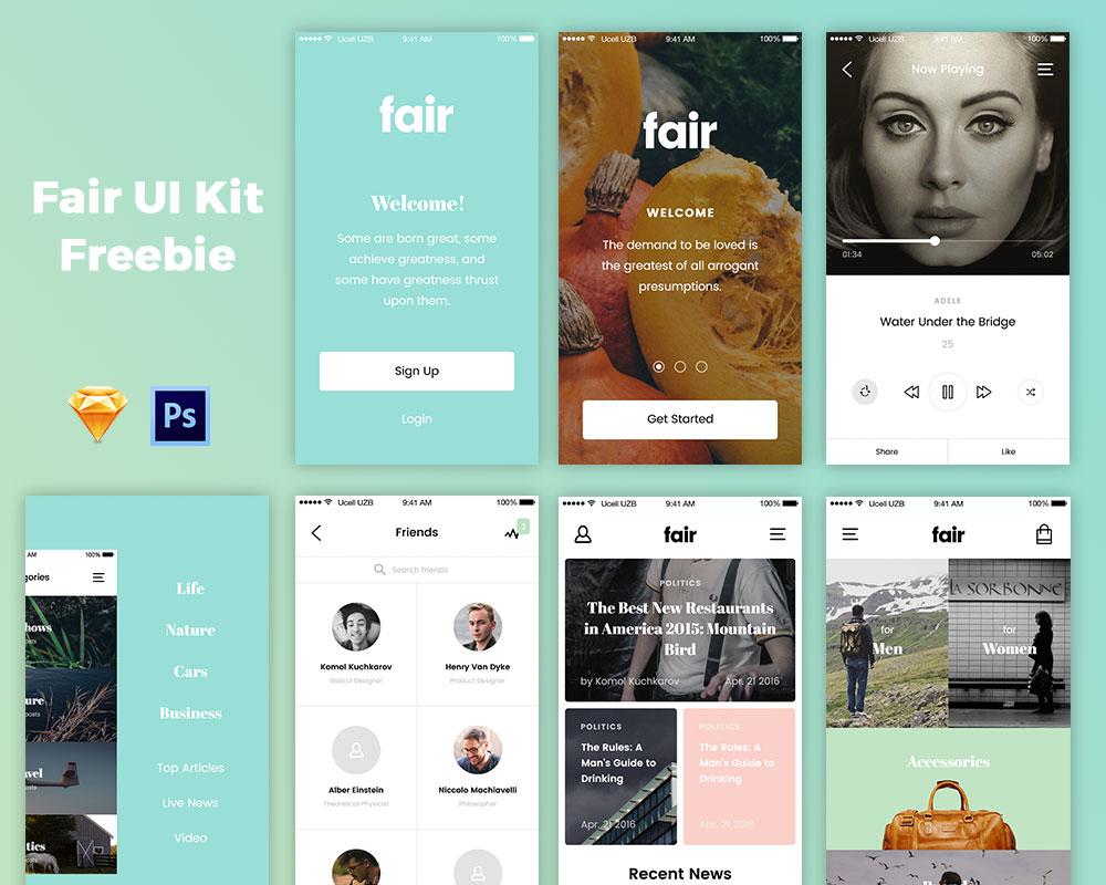 Free Fair UI Kit