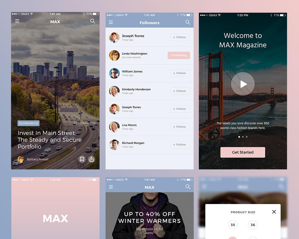 Max Free UI Kit