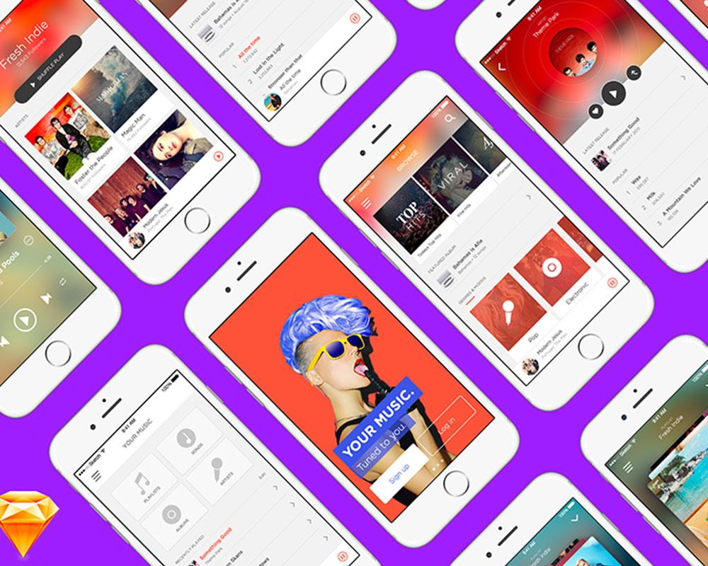 Music App FREE UI Kit
