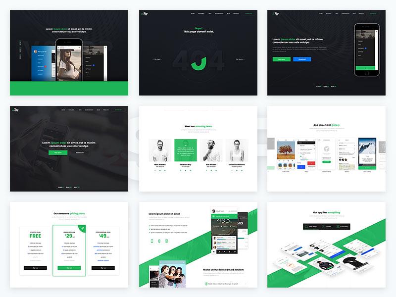 Free VSApp PSD Web Design Template