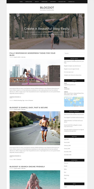 Free Responsive Blog WordPress Theme
