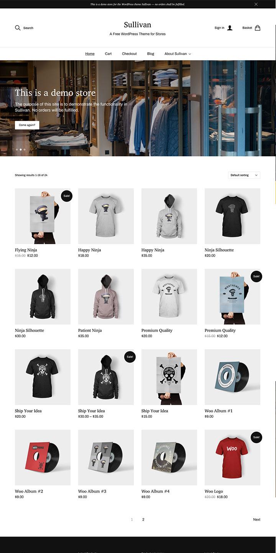 Free WooCommerce WordPress Theme