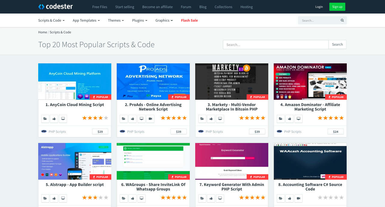 Codester: All-in-one Marketplace for PHP Scripts, Plugins, Themes & More