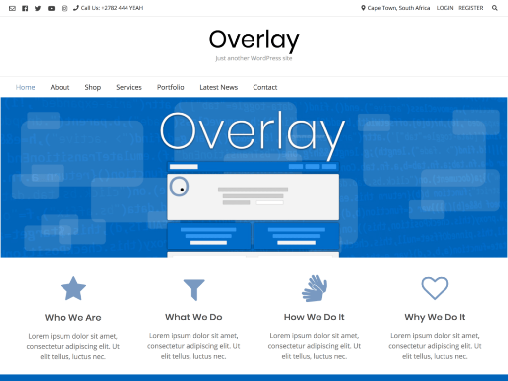 Overlay- free download wordpress themes for business websites
