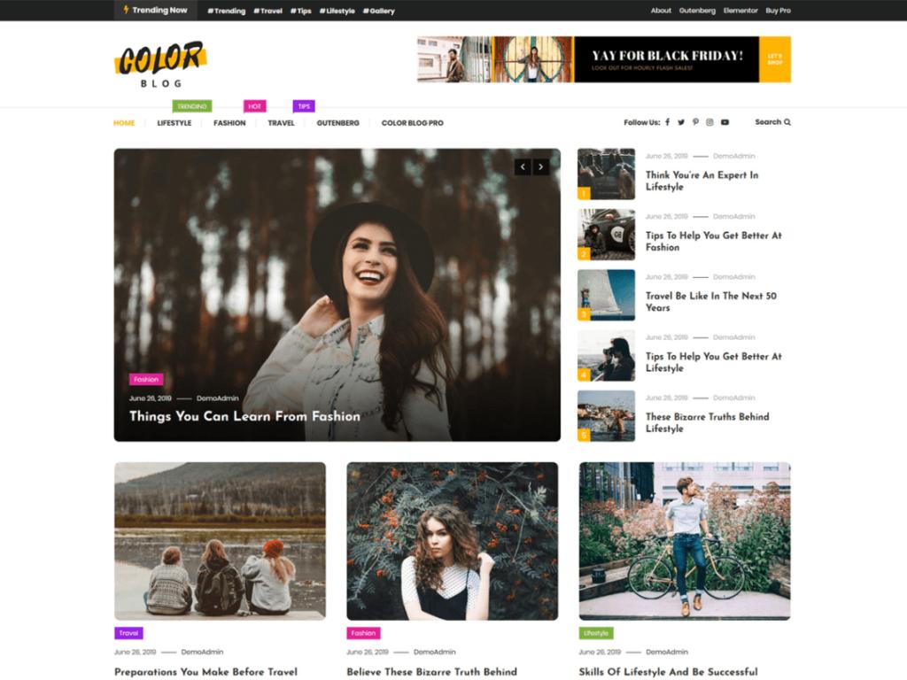 Colorblog blog theme