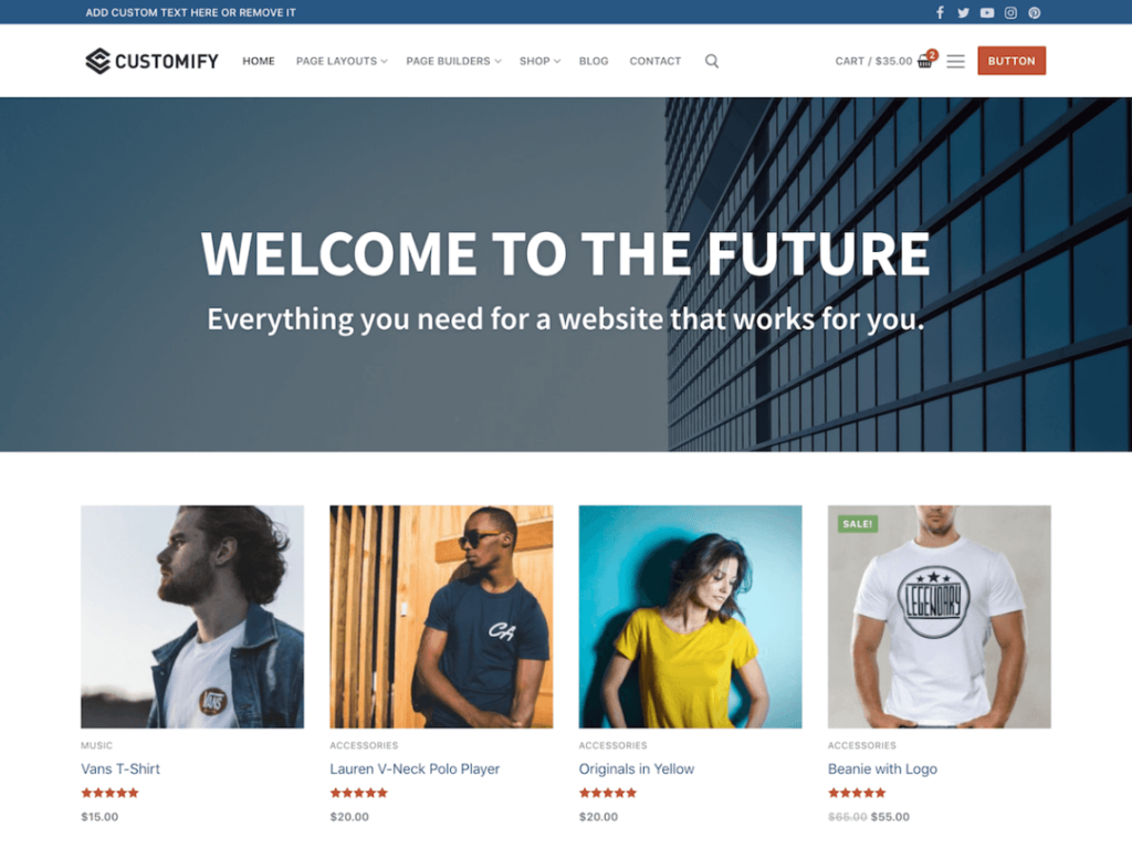 Customify - Free Multipurpose WordPress Theme