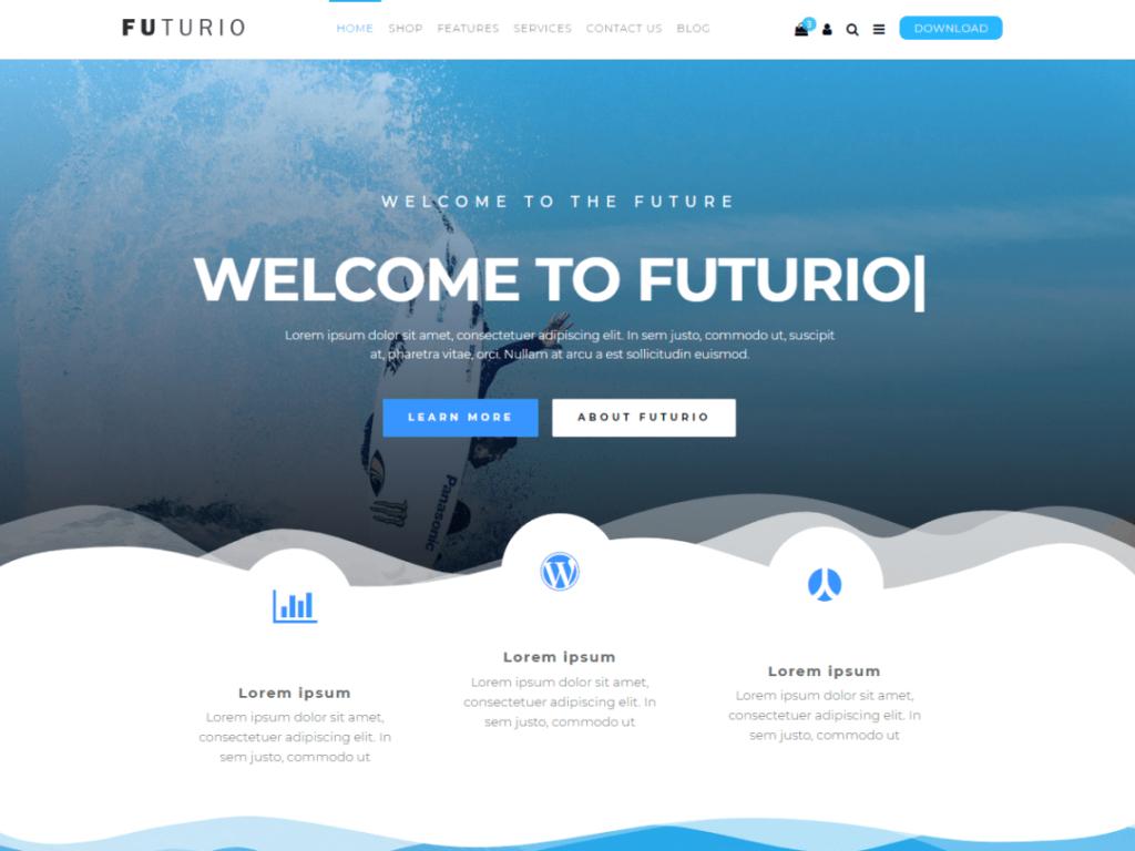 Futurio - Free WordPress Theme