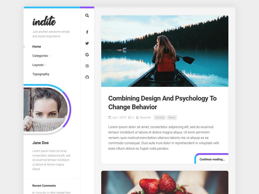 Indite -Blog Free WordPress Theme
