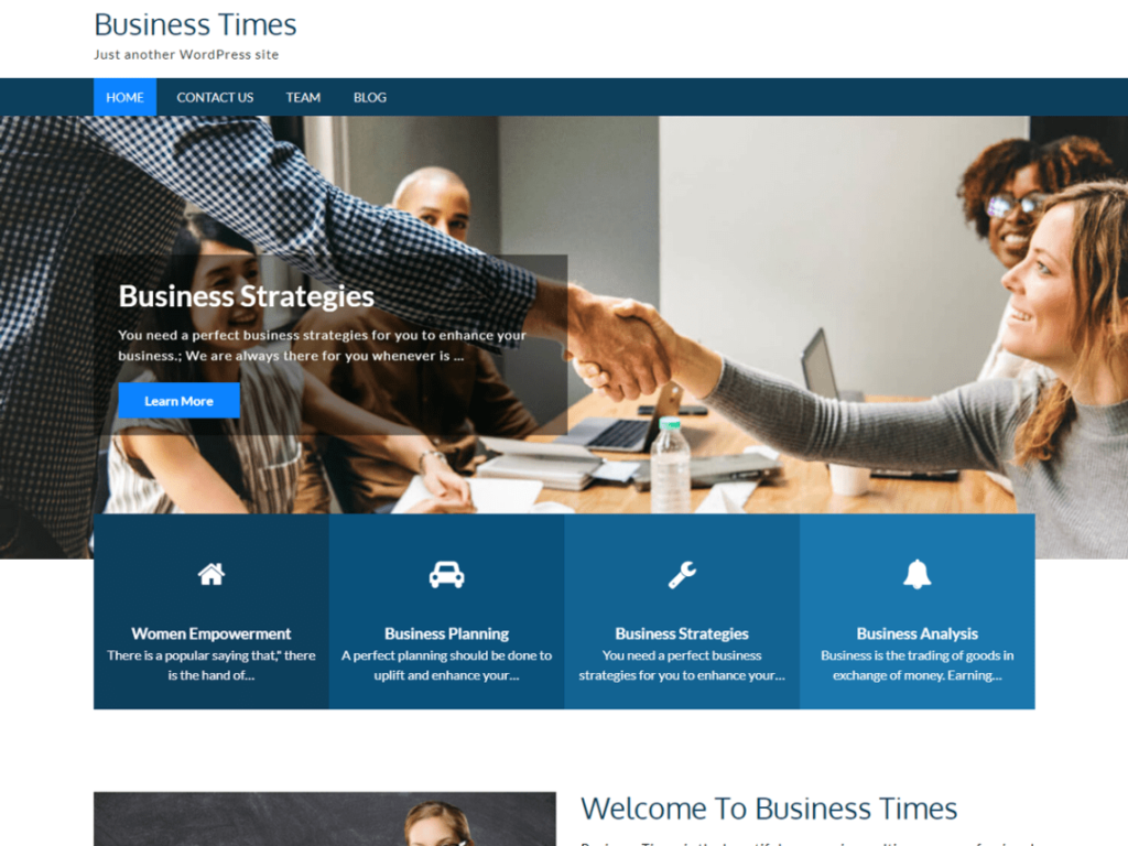 Business Times- best free WordPress business themes