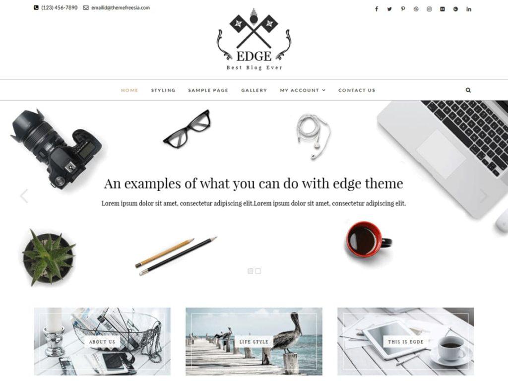 Edge- Free WordPress Blogger Theme