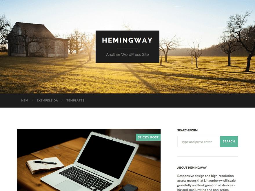 Hemingway Free WordPress Blog Theme
