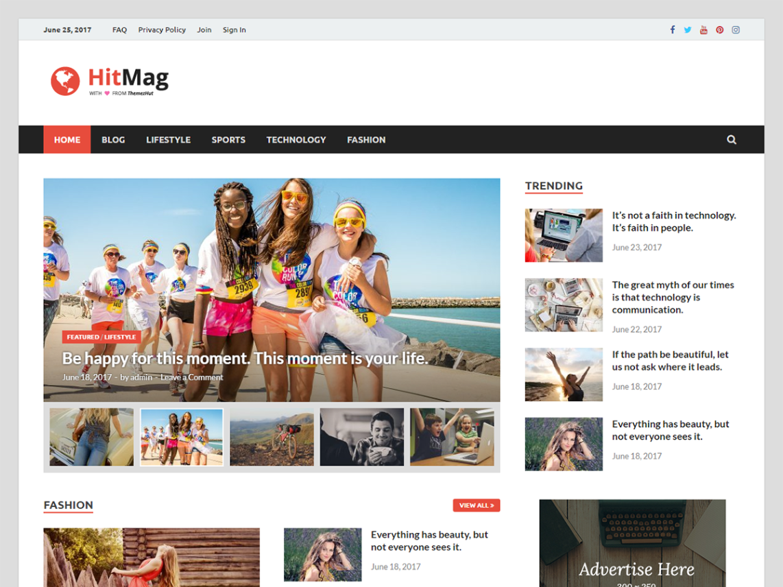 Hitmag Free WordPress Theme
