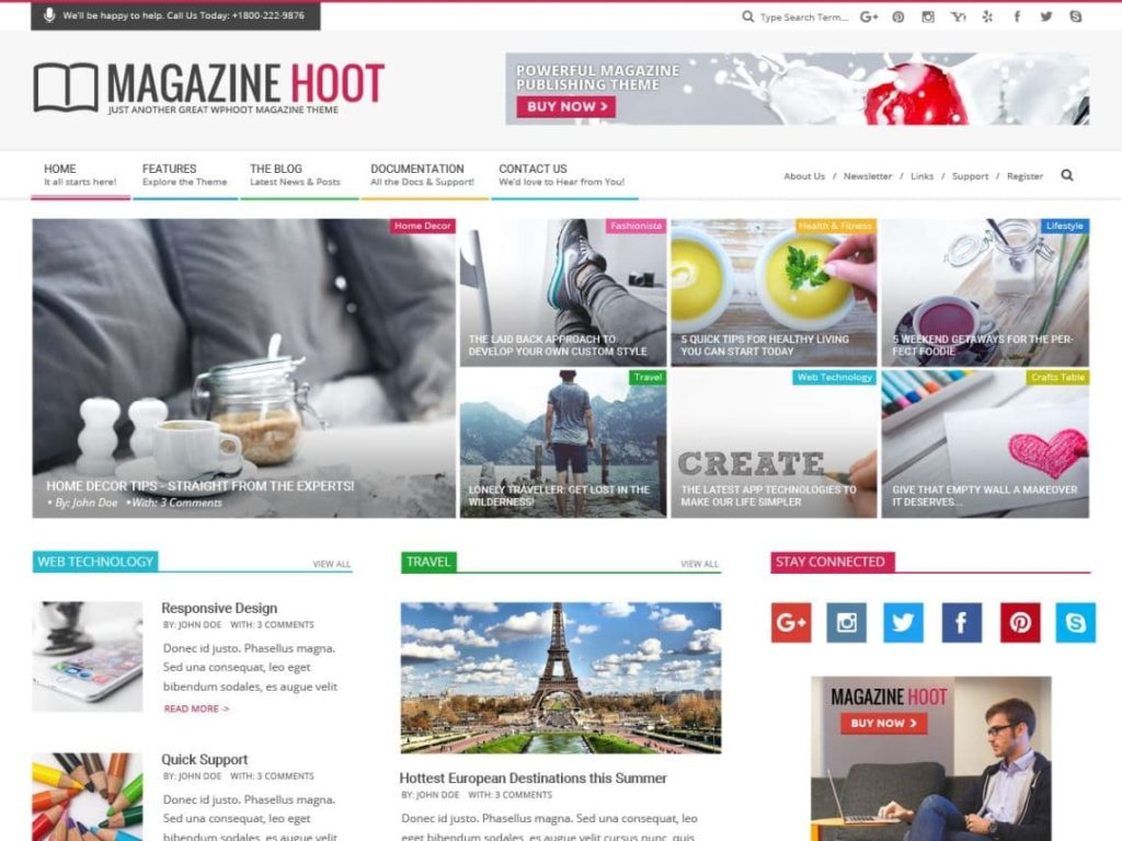 Magazine Hoot - Free WordPress Magazine Theme (1)