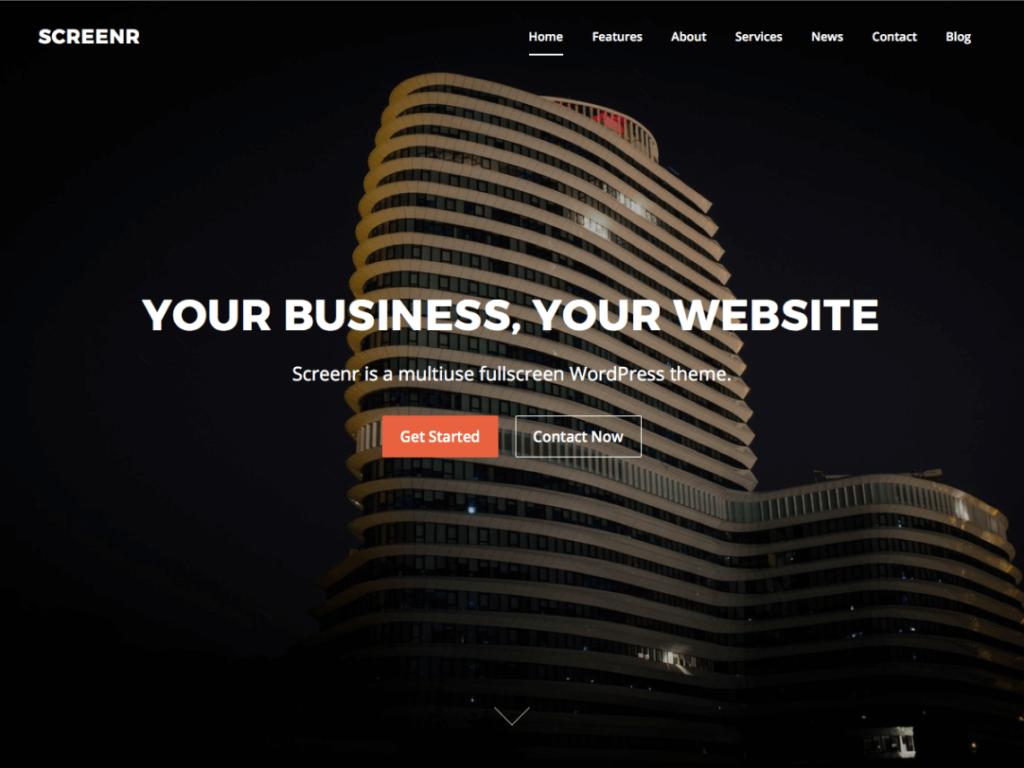Screenr wordpress themes for business free