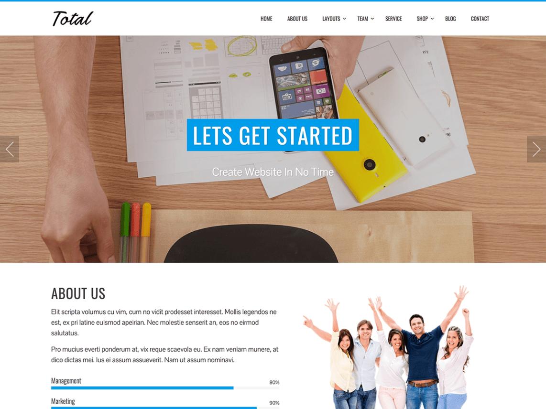Total Free WordPress Theme Business