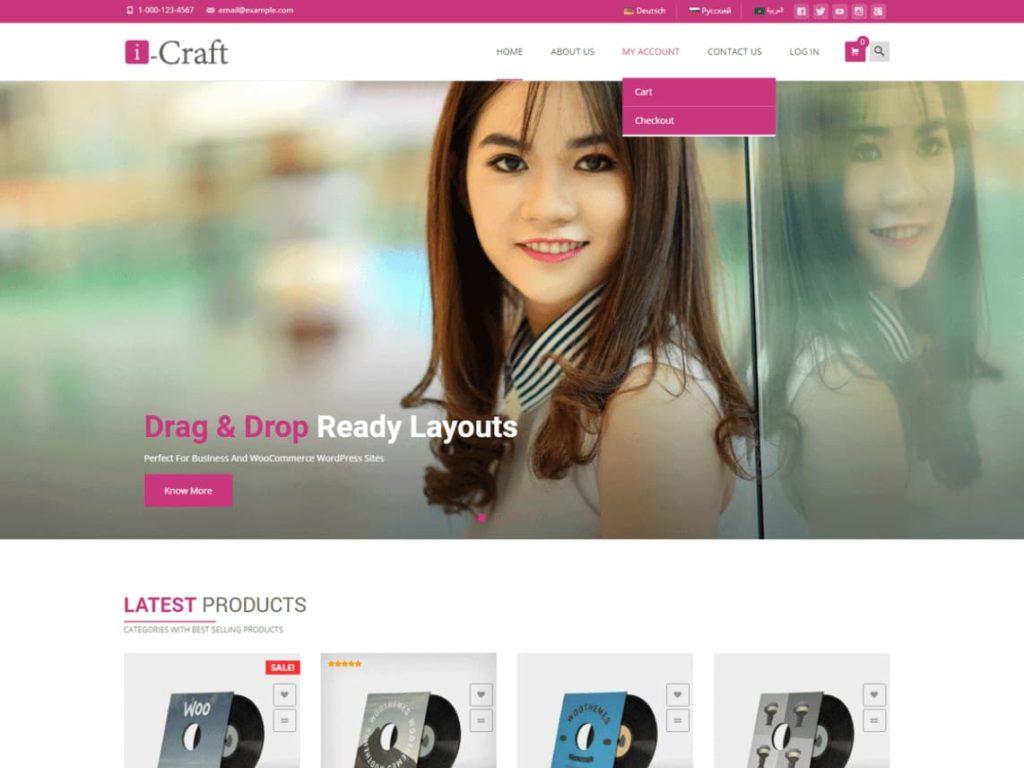 i-craft- Free WordPress WooCommerce Theme