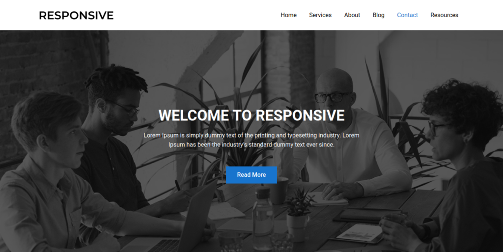 One Page Business WordPress Website