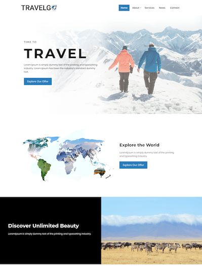 Travel agency ready site template