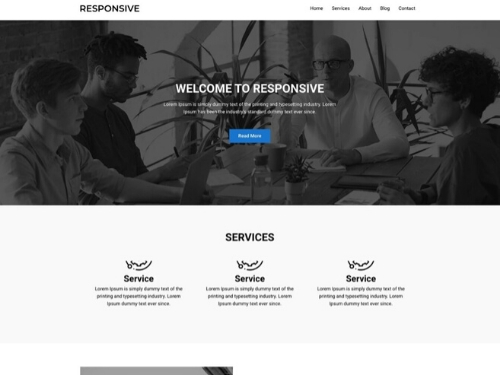 One Page Business Theme- best free wordpress themes for business