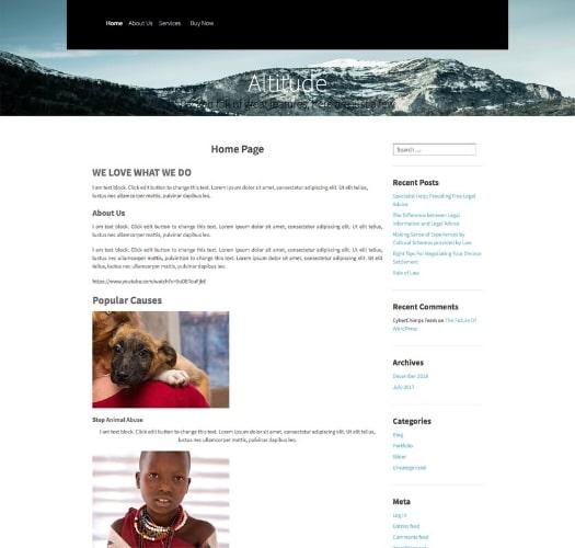 Altitude- Responsive Child Theme