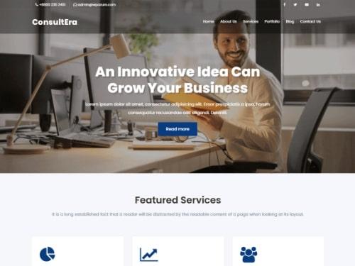 ConsulEra- Free WordPress business theme