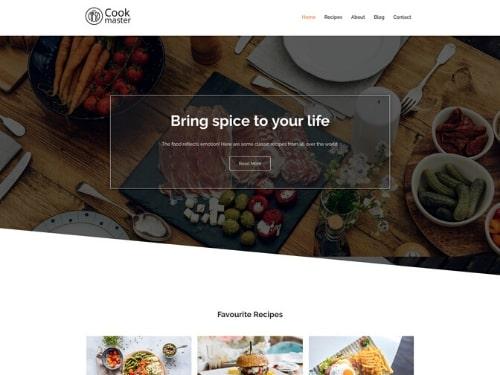 Cook Master- free customizable WordPress themes