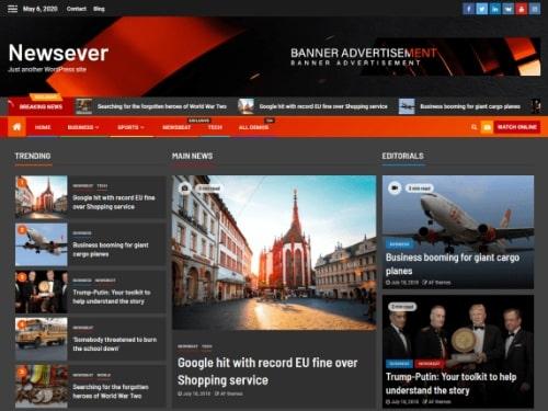 Newsever- Free WordPress news theme