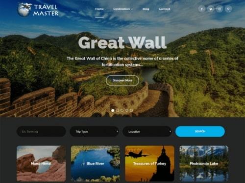Travel Master- best free WordPress business themes